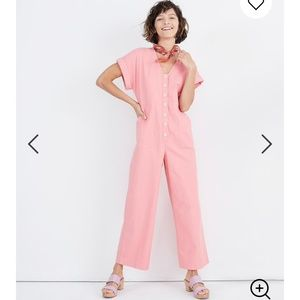 MADEWELL Button-Front Day Jumpsuit